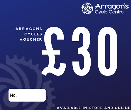 £30 Arragons Cycles Voucher (In-Store Only)