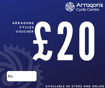£20 Arragons Cycles Voucher (In-Store Only)
