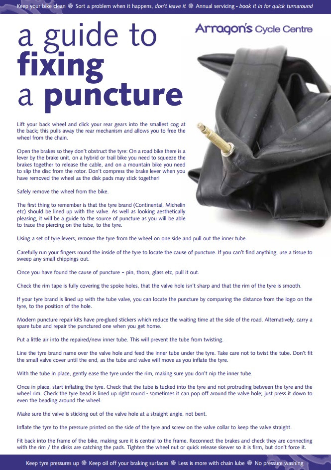 A Guide To Fixing A Puncture