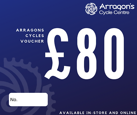 £80 Arragons Cycles Voucher (In-Store Only)