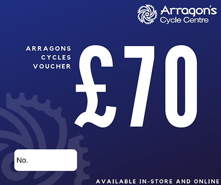 £70 Arragons Cycles Voucher (In-Store Only)