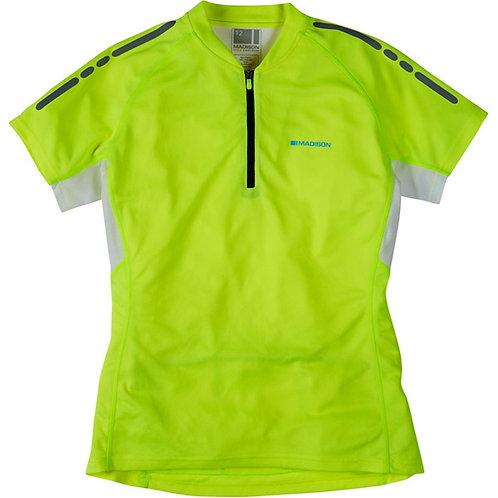 Madison Stellar Women's Short Sleeved Jersey, Hi-Viz Yellow