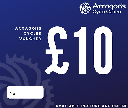 £10 Arragons Cycles Voucher (In-Store Only)