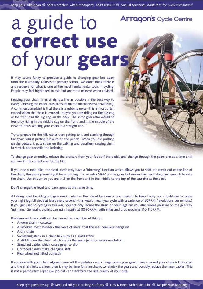 A Guide To Correct Use Of Your Gears
