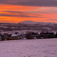 Sunsets from Penrith Overlooking the Fells