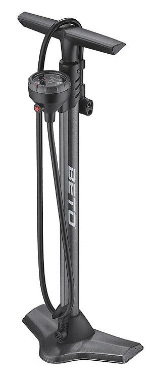 Beto CMP-161SGB Steel Floor Pump with Gauge & Bleed Valve