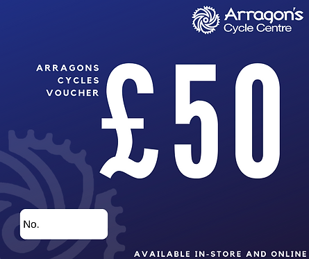 £50 Arragons Cycles Voucher (In-Store Only)