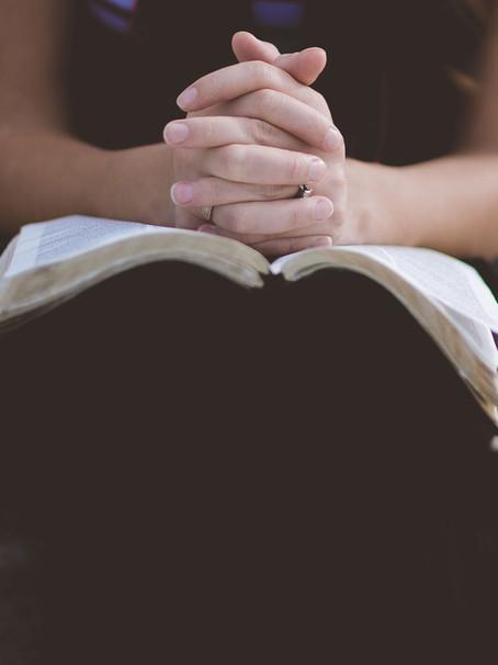 Taking time to pray...