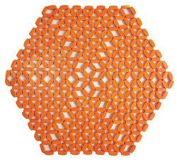 Hexagonal - Laranja