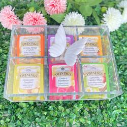Caixa de Chá Borboleta Branca