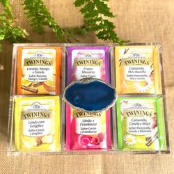 Caixa de Chá - Ágata Azul Royal