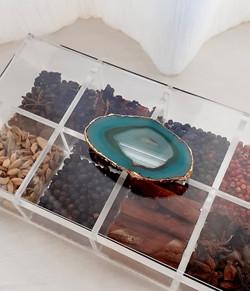 Caixa de Gin Ágata Ouro Verde