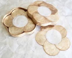 Porta Copos Iris - Ouro
