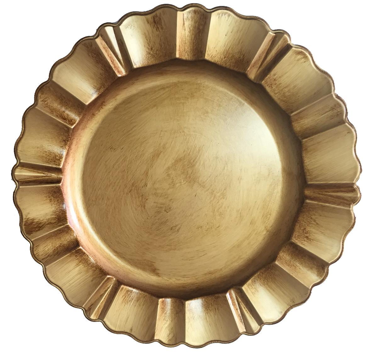 Sousplat Farnese - Ouro