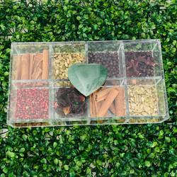 Caixa de Gin Quartzo Heart Verde