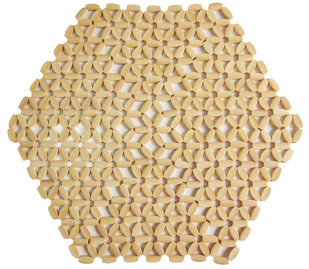 Hexagonal - Creme
