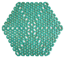 Americano Hexagonal - Turquesa