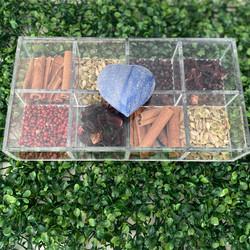 Caixa de Gin Quartzo Heart Azul