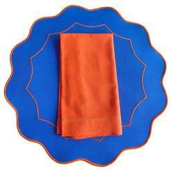 Americano íris - Azul Royal/Laranja