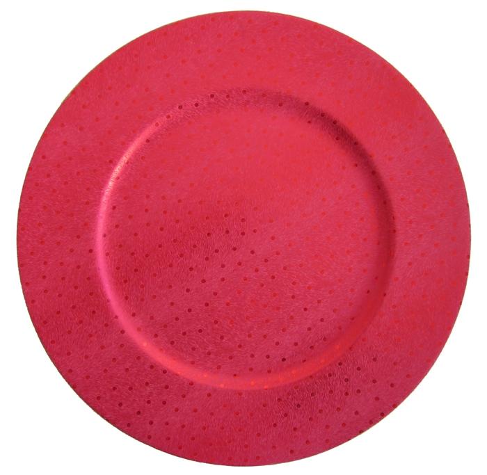 Sousplat Dots - Vermelho