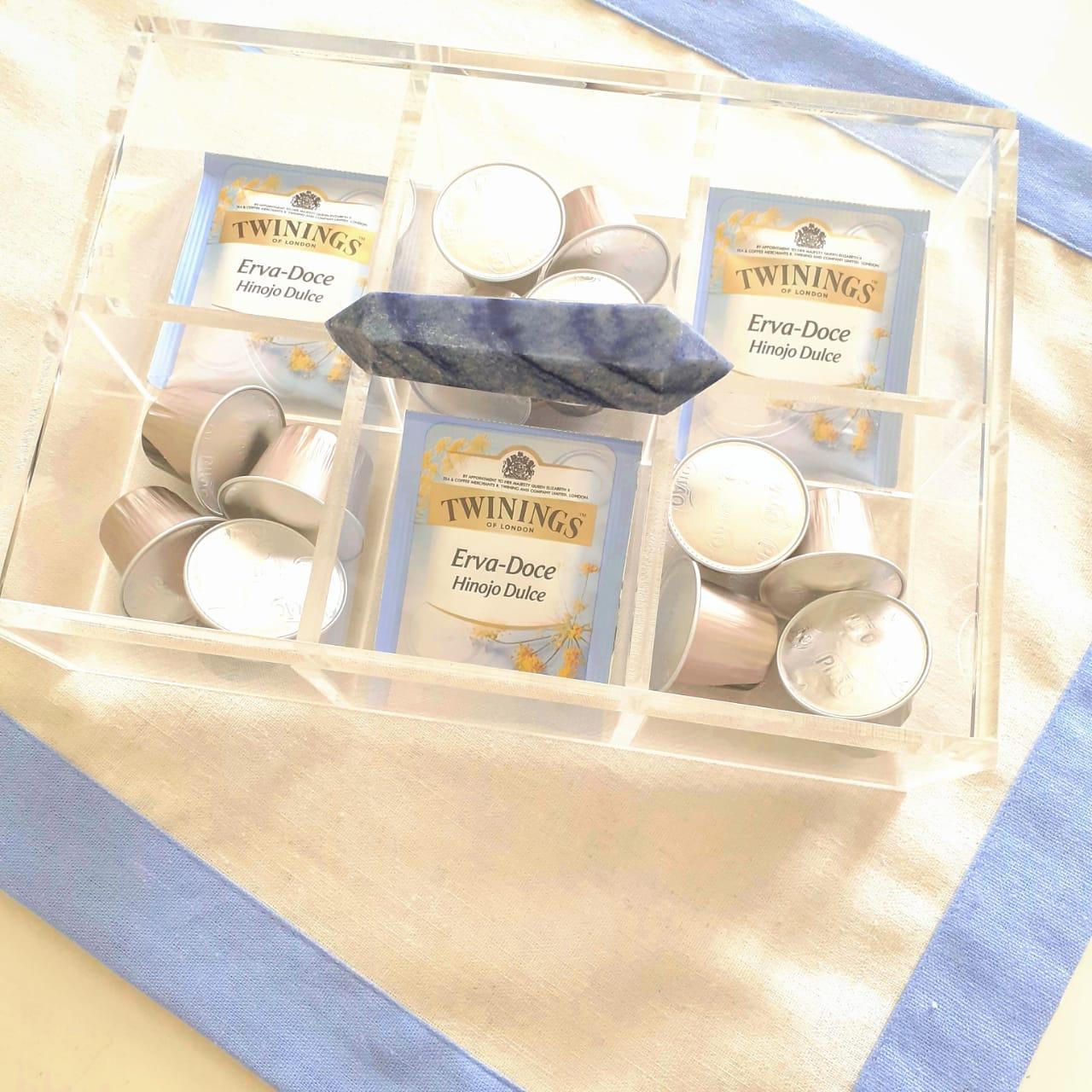 Caixa de Chá - Mini Quartzo Azul