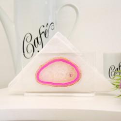 Guardanapeira Ágata Cristal - Pink