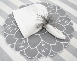 Americano Bloom - Cinza/Branco