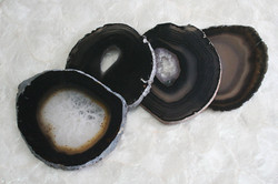 Porta Copos Ágata Fumê - 4 peças