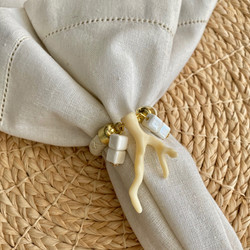 Anel Gold Coral  - Creme