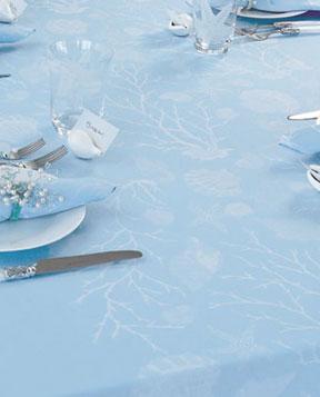 Toalha de Mesa Sorrento- Azul/Branco