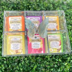 Caixa de Chá Borboleta Verde