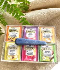 Caixa de Chá - Quartzo Azul