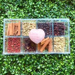 Caixa de Gin Quartzo Heart Rosa