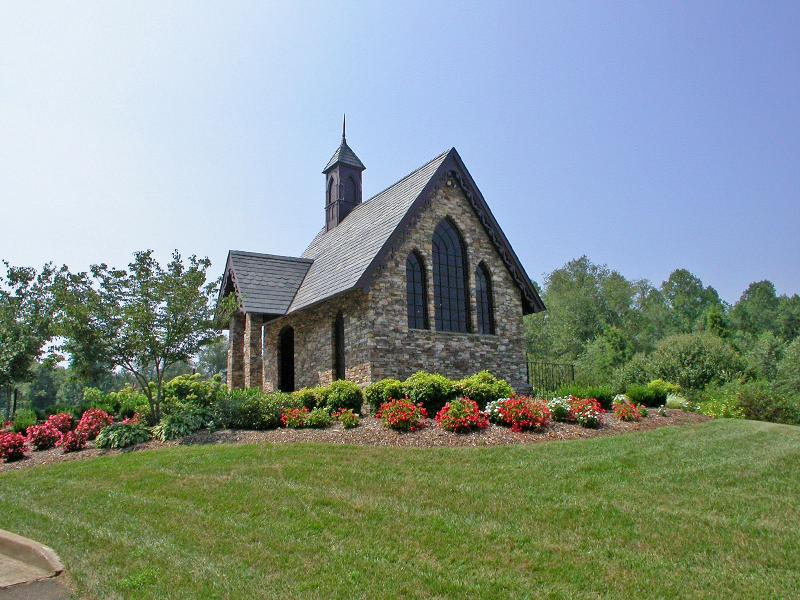 Chapel Overlooking Lake