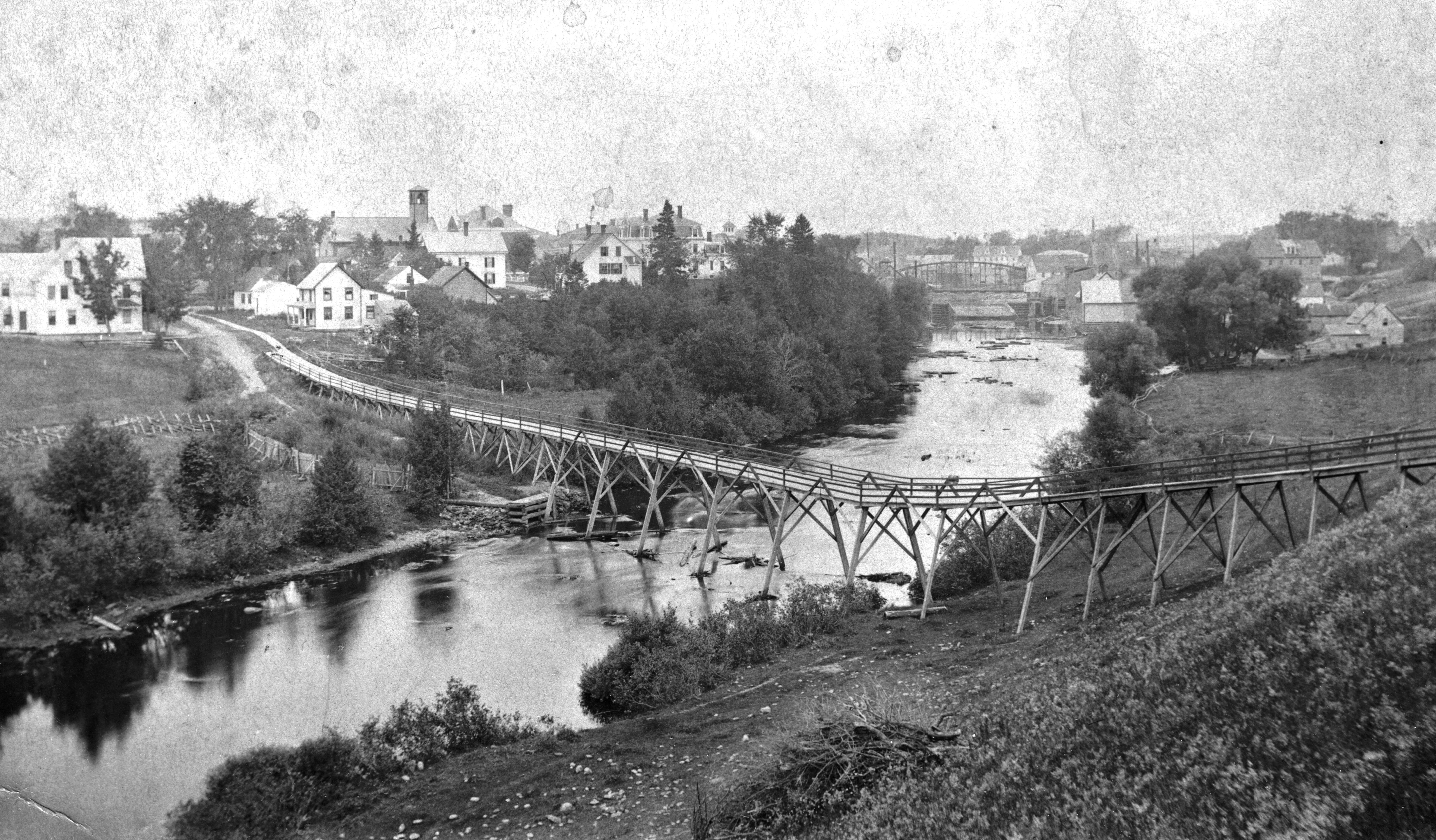 Foot bridge, built in 1890, by James Archibald, RW Shaw, Geo Nickerson, and Geo Hall