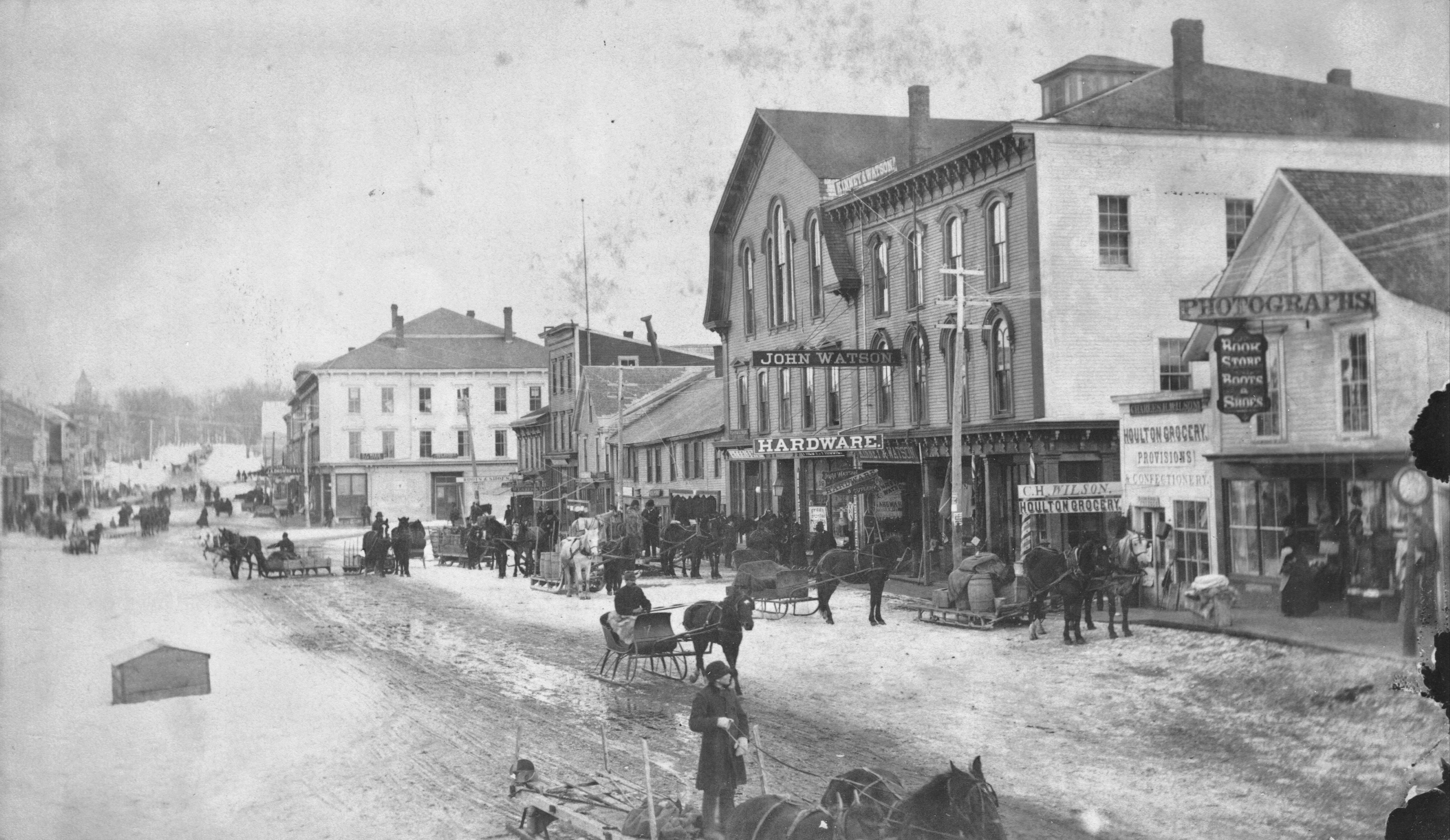 Market Square in Winter, ca. 1885.