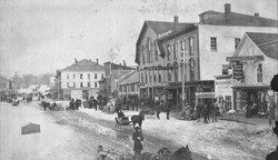Market Square in Winter, ca. 1885.