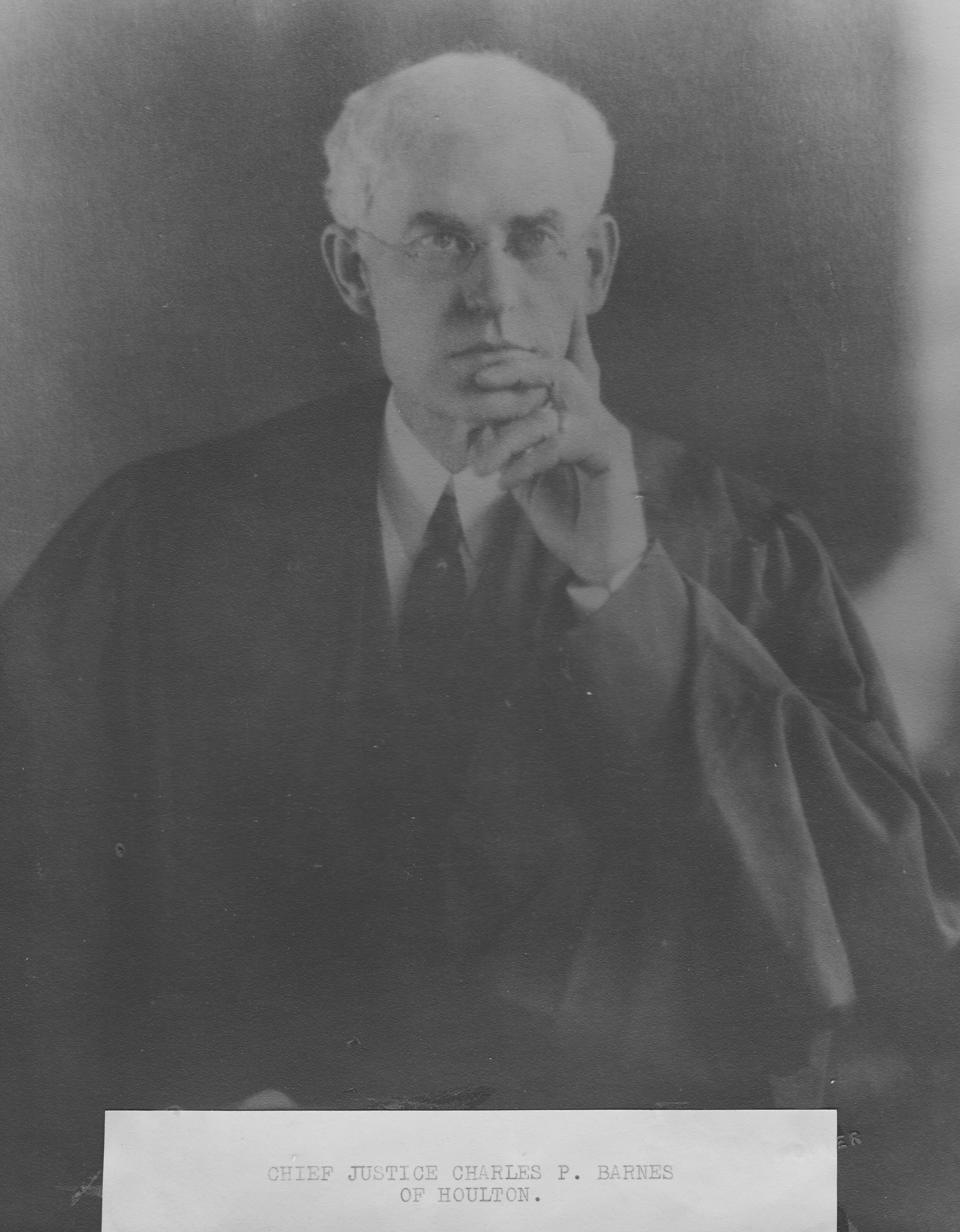 Chief Justice Charles P Barnes