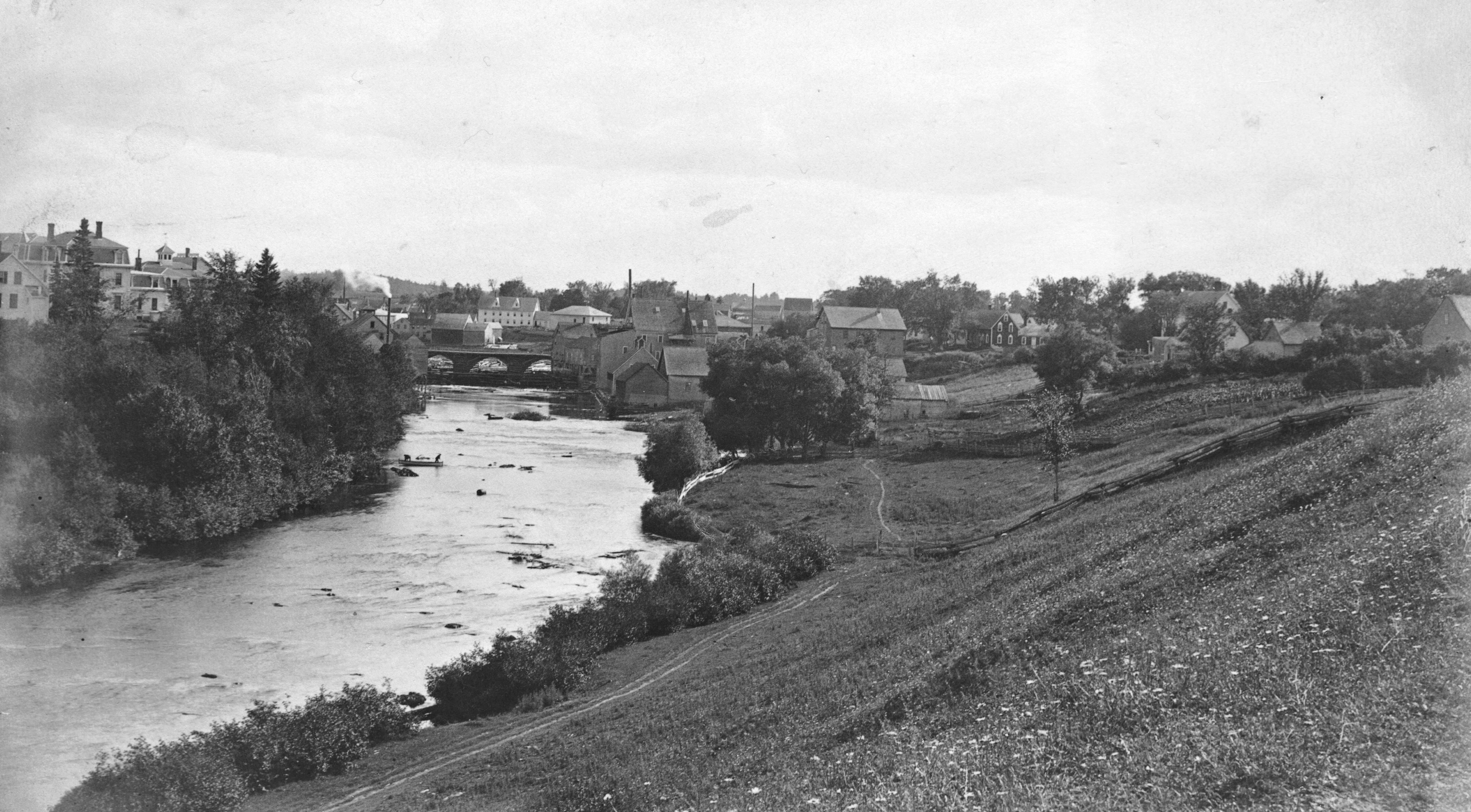 Meduxnekeag River, looking upstream.