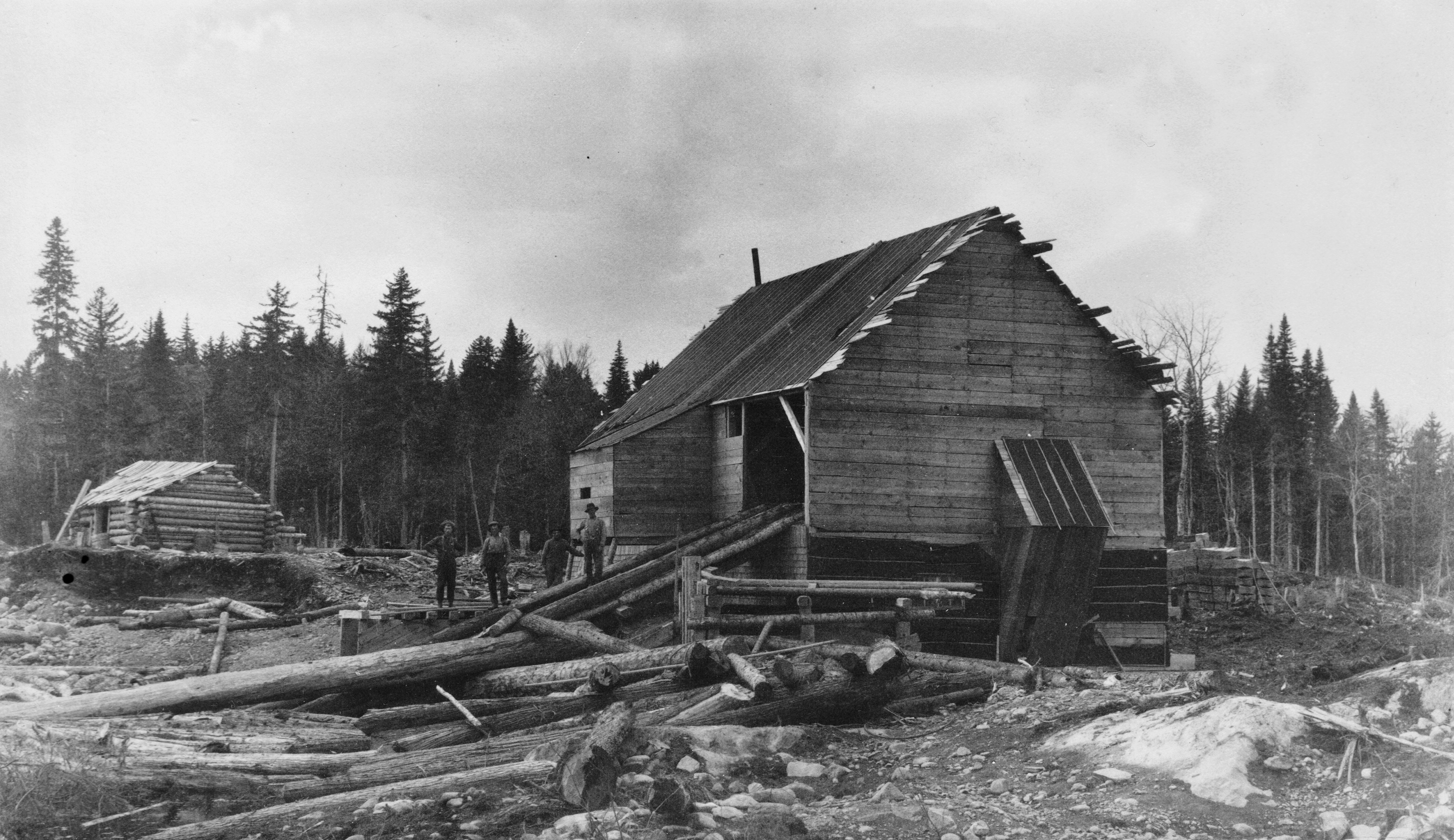 A trip to St Croix Lake, May 24-31, 1891, Weeks Mill on Big Smith Brook