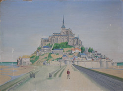POW painting of Mont St. Michael