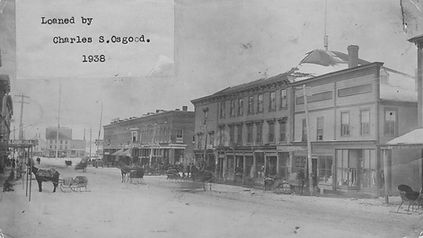 Main Street looking West, about 1885.  E.B. White collection.