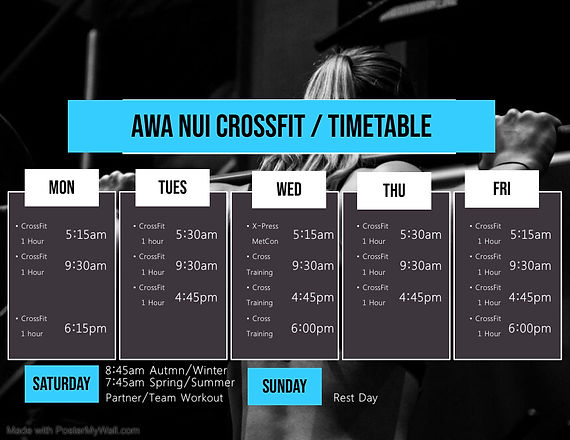 Copy of Gym Timetable Template - Made wi
