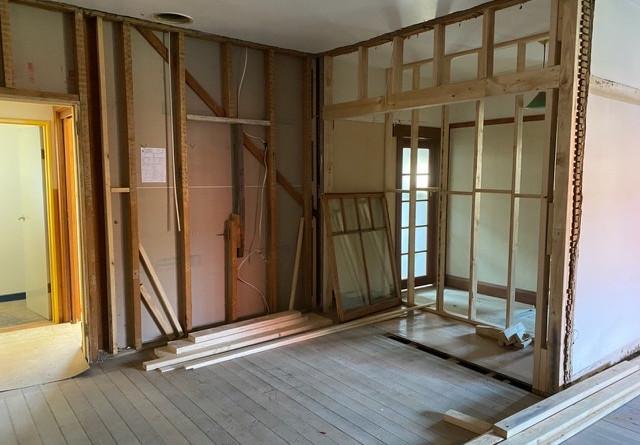 Internal progress - new walls