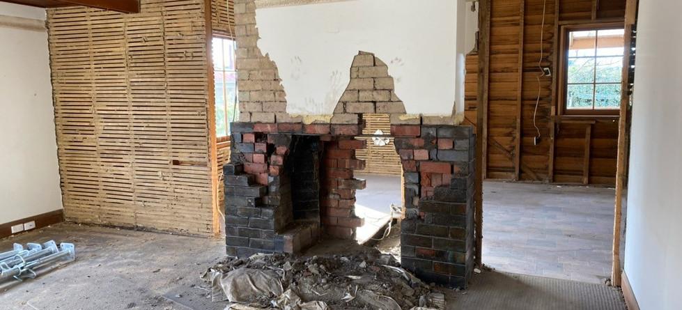 Internal progress - remove fire place