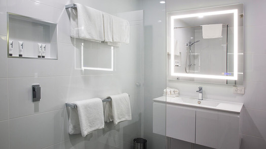modern before and after bathroom remodel