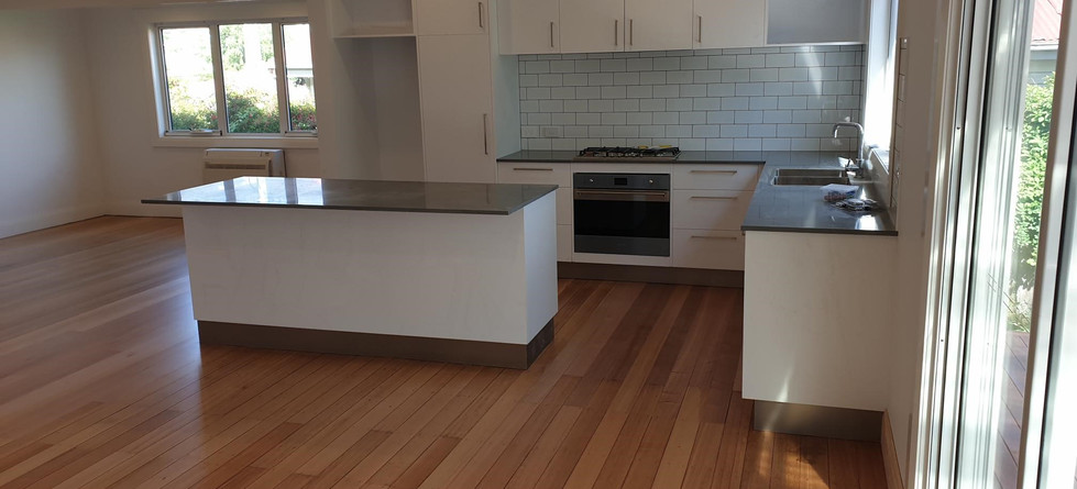 Newly positioned kitchen