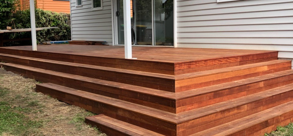 Rear of house - deck renovation