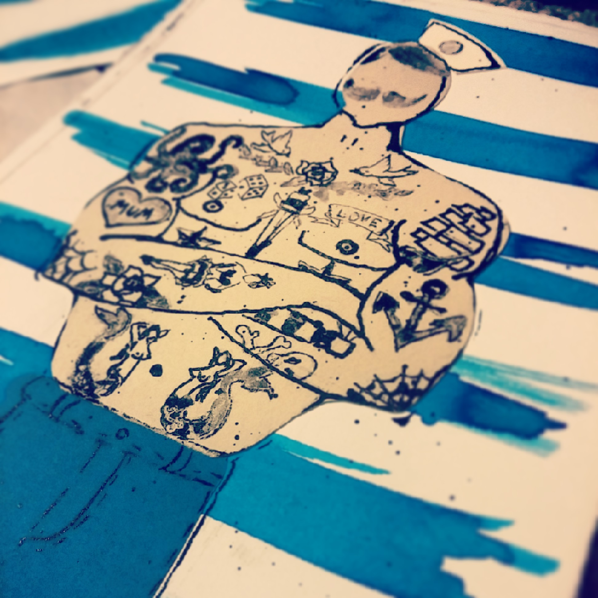 Tattooed Sailor Print