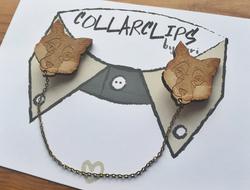 Wooden Fox Collarclips